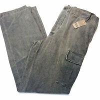 Herren jeans gr 44/46 L34 Berry & Brian grau cargo Bundhöhe hoch gerades bein