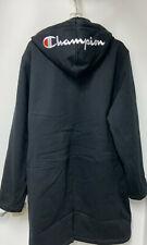 NEW! CHAMPION Long Winter Stadium Warm Fleece Jacket size LARGE mens black