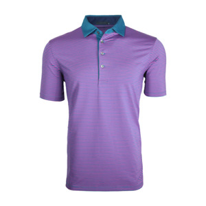 1 NWT GREYSON (RLX) CHOCTAW MEN'S GOLF POLO SHIRT, SIZE: MEDIUM - EMERALD/RUBY