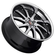 Roderick RW4 20x9.5 5x114.3 Black Wheels(set of 4)