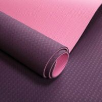 Extra Grip Yoga Mat  Non Slip  6mm TPE Eco Friendly Exercise Mat For Workout