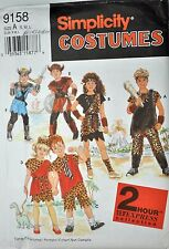 Childs Prehistoric Viking Costume Simplicity Sewing Pattern # 9158 Sz Sm Med Lg