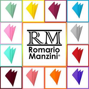 Romario Manzini® Men's Solid Pocket Square Hankies Handkerchief  (56 Colors)
