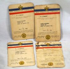 Vintage Boy Scout Membership Cards (4) 1955-1958, Troop 22