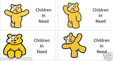 40 x Children in need/pudsey bear Day (a) labels/stickers cakes/gift bags/sweets