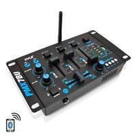 NEW Pyle PMX7BU Bluetooth 3-Channel DJ MP3 Mixer RCA  USB  MIC & Headphone Input