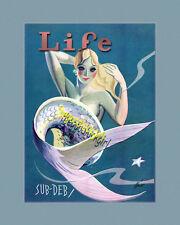 MERMAID LIFE Vintage magazine cover 8x10 Art print