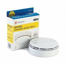 2 X Aico EI141RC Smoke Alarm with battery back up and base