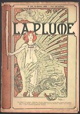 La Plume. 15 octobre 1899. Edition de luxe - Hors texte de Noël Boutrou. Mucha