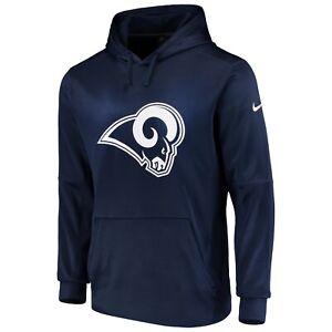 Men's Navy Los Angeles Rams Club Fleece Logo Pullover Hoodie NFL Football Hoody
