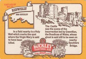 UNUSED BEERMAT- BUCKLEYS BREWERY - KIDWELLY - (Cat 047) - (1983)