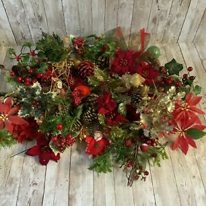 Job Lot Christmas Foliage - Wreath Making - Crafts - Artificial Flowers - Used
