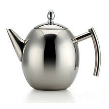 Stainless Steel Teapot Infuser 1000ml With Removable Filter Strainer UK