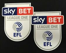 *16 / 19 - ENGLISH FOOTBALL LEAGUE 1 / 2 x ARM PATCHES = PLAYER*