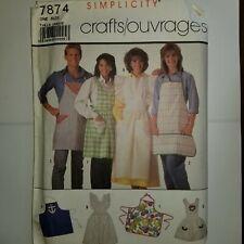 Apron Sewing Pattern Simplicity 7874 Mens Womens Long Short UC FF Aprons