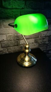 Bankerlampe Tischlampe Grün
