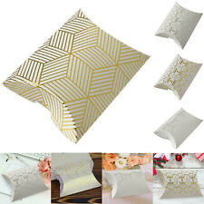 10Pc Wedding Candy Box Gift Boxes Pillow Shape Craft Bag Event Party Favor Decor