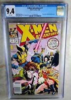 X-Men Adventures #1 NEWSSTAND - Marvel 1992 CGC 9.4 NM WP - Comic I0135