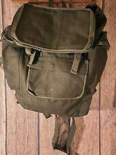 Vintage Large Canvas Vintage Military Backpack Us olive green