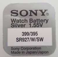 SONY 395 399 399/395 SR927W BATTERY SILVER OXIDE WATCH COIN CELL 1.55V X 1