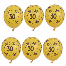 "10pcs Gold 30th Birthday Party 11"" Pearlised Latex Printed Balloon Decoration"