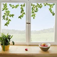 Fenstersticker Fensterfolie Fenster Aufkleber Deko Efeu Zweig Ranke Blätter