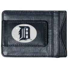 Detroit Tigers Fine Leather Money Clip Wallet (NEW) MLB Black Billfold