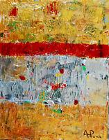 ALEXANDRE PONS/Abstrait contemporain pièce unique format 35x27 cm