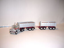 FIRST GEAR 1/64 SILVER ORANGE RED/MAROON MACK R MODEL WITH DOUBLE DUMP BOXS DCP