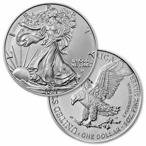 2021 TYPE 2 1 oz $1 American Silver Eagle Bullion Coin Gem Uncirculated
