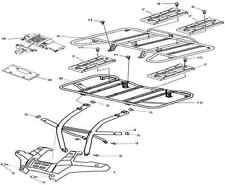 Plaques supports porte bagage quad pièce 500 700 ATV hsun 72700-058-0000