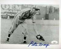Pete Gray JSA Coa Hand Signed 8x10 Photo Autograph