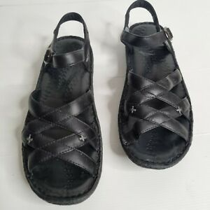 KEEN Cush Women's size 42/US 11 comfort black leather sandals cross cross