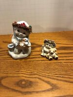 Dreamsickles Figurines Lot of 2 Angels With Bird And Bear 1994 1996