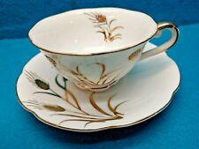 Vintage Lefton Golden Wheat Tea Cup And Saucer  EUC