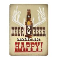 Deer & Beer Embossed Metal Magnet