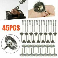45X Stainless Steel Wire Brush Set Dremel Tool Rotary Die Grinder Removal Wheel