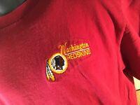 Vintage Washington REDSKINS Football NFL Embroidered T-Shirt Size L