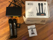 TONOR UHF Wireless Microphone, TW-820 Dual Professional Dynamic Mic Black -read-