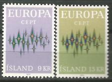ISLANDIA EUROPA cept 1972 Sin Fijasellos MNH