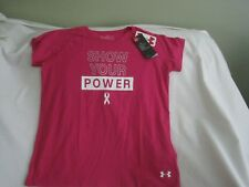 "Under Armour Girls Large Pink ""Show Your Power"" Loose Fit Tee NWT"