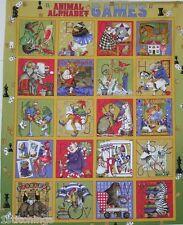 Animal Alpha Games 21000-S Quilt Quilting Fabric Panel Alphabet J. Wecker Frisch