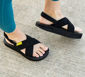 The Healing Sole Everett Sandals Size 8.5 Women's Black Orthopedic *EXCELLENT*