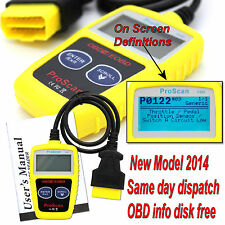 Renault Clio OBDII Fault Code Reader Reset Tool Universal Diagnotic OBD2 can