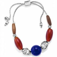 RETIRED New Brighton SOL Colorful Brown Blue Silver Bracelet MSRP $72
