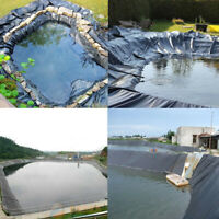 US Fish Pond Liner Garden Pool HDPE Membrane Reinforced Landscaping 0.3mm Thick