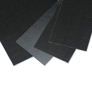 100mmX250mmX1mm 100% 3K Carbon Fiber Plate/Panel/Sheet  plain Weave Glossy
