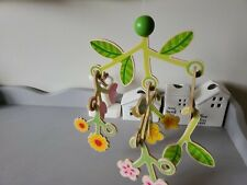 New Listingwood haba flower mobile baby crib nursery decor tulip floral lime fireflies