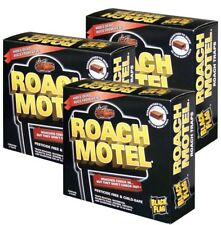 Lot of 6 Black Flag Roach Motel Cockroach Killer Bait Glue Traps 3pack x 2= 6
