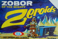 Rare working No.47720 ZOBOR OF THE MIGHTY Zeroids space robot toy by IDEAL